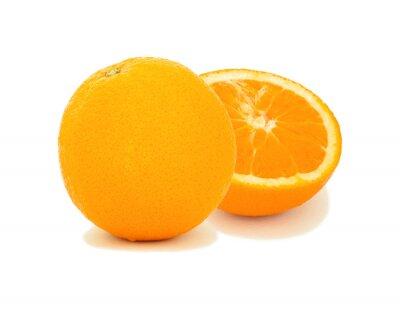 Fruit d'orange isolé sur blanc