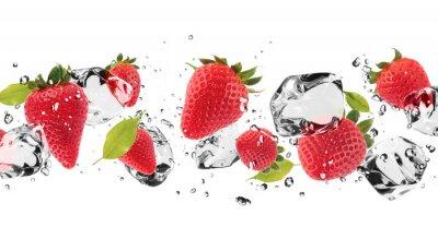 Sticker fruit de glace sur fond blanc