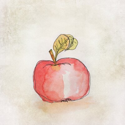 Sticker Fruit illustration à l'aquarelle