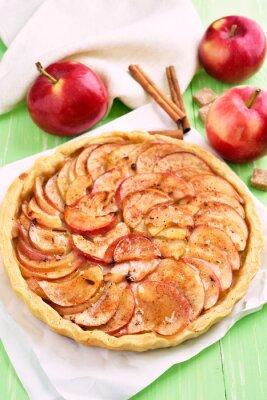 Sticker Fruit, pomme, tarte, cuisson, papier