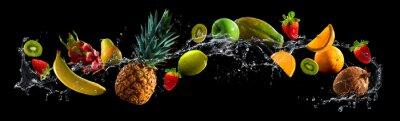 Sticker Fruits, eau, éclaboussure