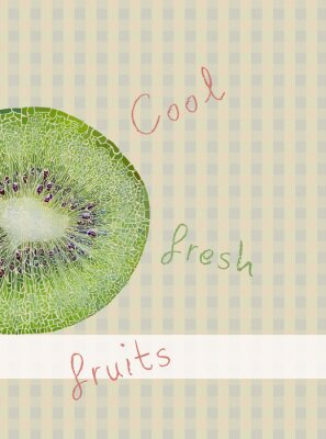 Sticker Fruits fond de thème