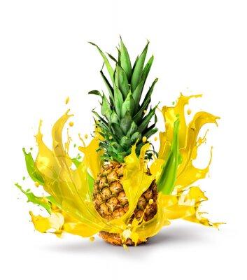 Sticker Fruits frais d'ananas