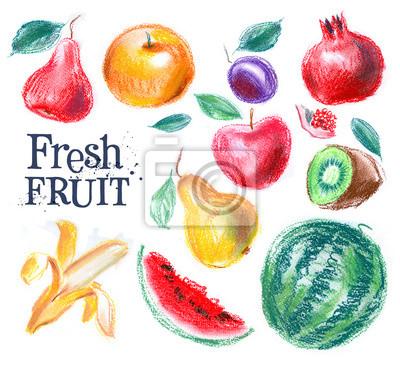 fruits frais sur un fond blanc