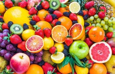 Sticker Fruits.Fruits mixtes background.Healthy manger, un régime amaigrissant.