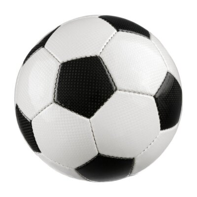 Sticker Fußball auf Weiß reinem