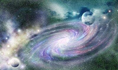 Sticker galaxie spirale dans l'univers