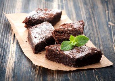 Sticker Gâteau chocolat brownie
