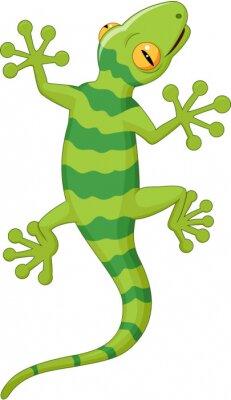 Sticker Gecko bande dessinée
