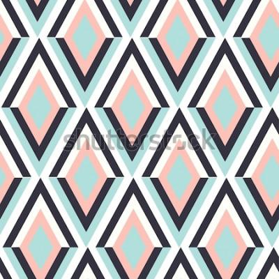 Sticker géométrie motif de vecteur zig zag. ornement ethnique sans soudure. Abstrait - lignes colorées. Illustration vectorielle