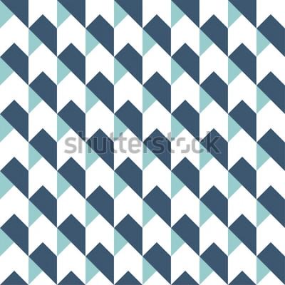 Sticker Géométrique abstrait sans soudure, fond géométrique, motif de flèches, motif de chevron