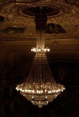 Sticker giant luxury chandelier in the opera house