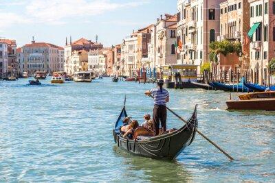 Sticker Gondola sur Canal Grande à Venise