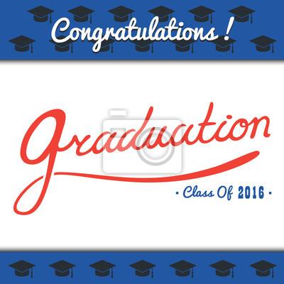Sticker Graduation greeting card conception / classe de 2016 félicitations
