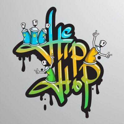 Sticker Graffiti caractères de texte imprimé
