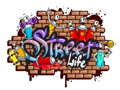 Sticker Graffiti composition des caractères de texte
