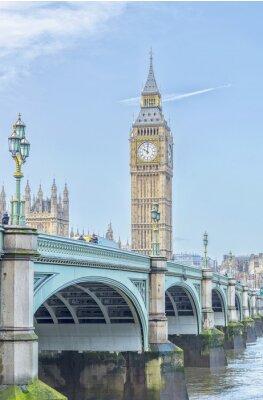 Sticker Grand, Ben, Westminster, pont, thames, rivière, londres
