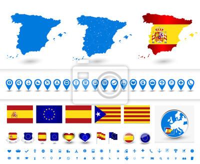 Grand symbole patriotique ensemble de l'Espagne