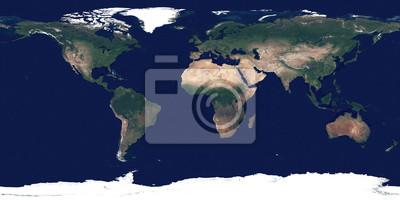 Grande photo détaillée et détaillée de la Terre. Texture de la surface de la Terre. Image satellite de la planète Terre. Carte du monde complète.