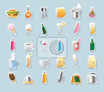 Graphismes de collant pour aliments et boissons