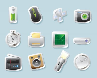 Graphismes de collant pour la technologie et les dispositifs