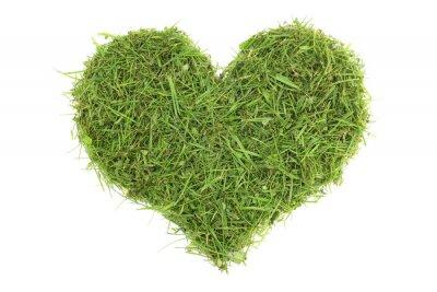 Sticker Grass cuttings in a heart shape