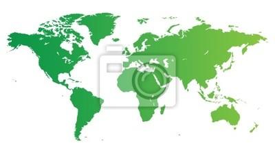 Green carte du monde