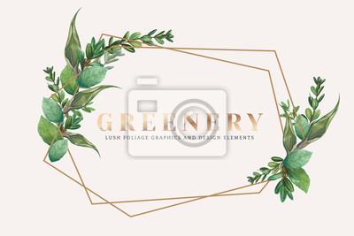 Sticker Greenery wallpaper