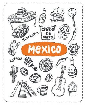 Sticker Griffonnage sur le Mexique.