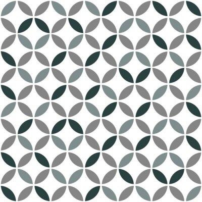 Sticker Gris, géométrique, retro, seamless, modèle