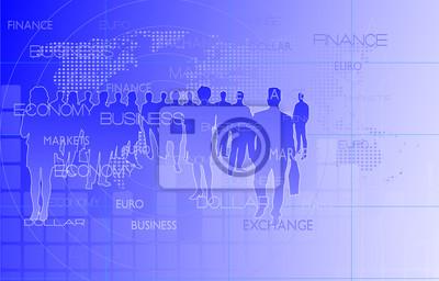 groupe d'hommes d'affaires sur un fond abstrait