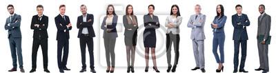 Sticker groupe de gens d'affaires réussis isolé sur blanc