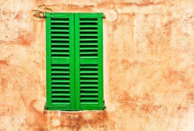 Sticker Grüne Fensterläden Maison Wand Mediterran Wohnen