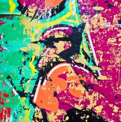 Sticker Grunge colorful metal background