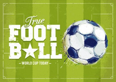 Sticker Grunge Football Poster