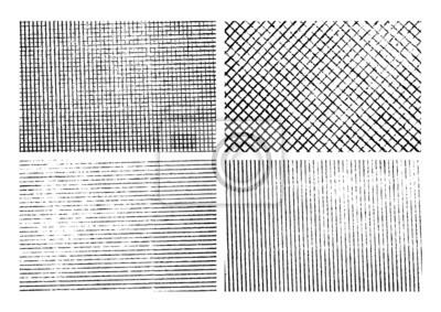 Sticker Grunge milieux bande de texture définies