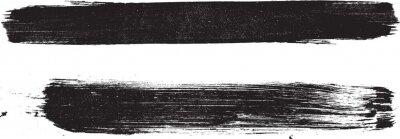 Sticker Grunge Paint stripe . Vector brush Stroke . Distressed banner . Black isolated paintbrush collection . Modern Textured shape . Dry border in Black