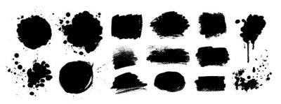 Sticker Grunge vector hand drawn elements