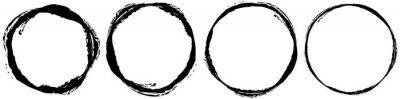 Sticker Grungy textured circle element, shape. Circular grunge shape