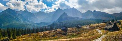 Sticker Hala Gasienicowa dans Tatras - panorama