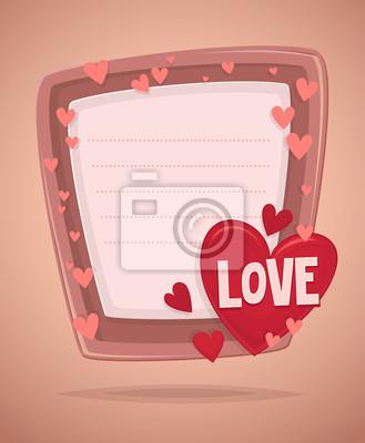 Happy day carton d'invitation de la St Valentin