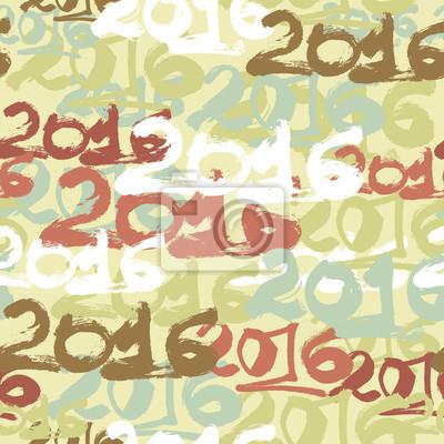 Happy New Year 2016 papier peint de célébration seamless pattern.