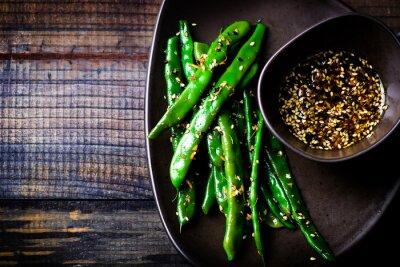 Sticker haricots verts à la sauce sésame asiatique
