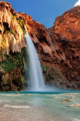Sticker Havasu Falls, au coucher du soleil, les chutes d'eau dans le Grand Canyon, Arizona