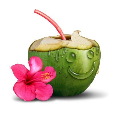 Sticker Heureux, tropicale, boisson, concept