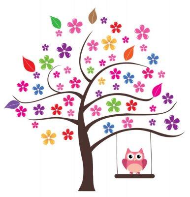 Sticker Hibou dans l'arbre