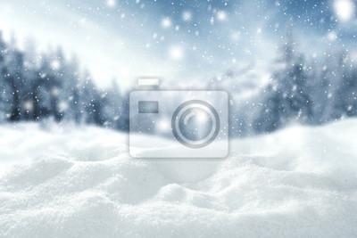Sticker Hiver, espace, neige