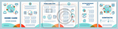 Sticker Home health care brochure template layout