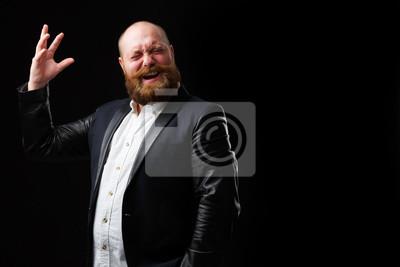 Sticker Homme artistique à la barbe au gingembre