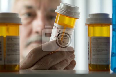 Sticker Homme atteint de forme de prescription armoire à pharmacie